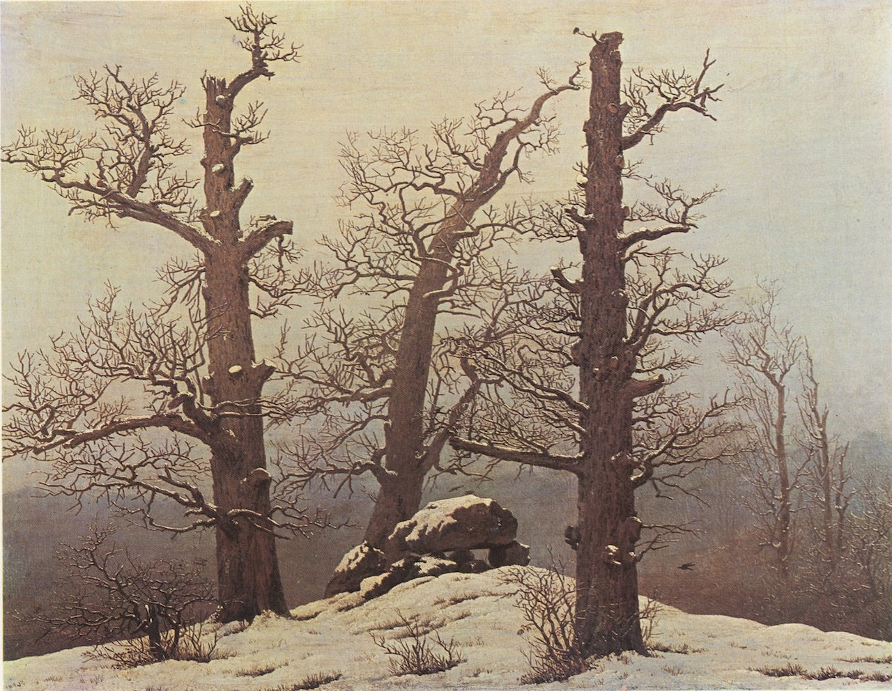 "Casper David Friedrich, ""winter tomb"""